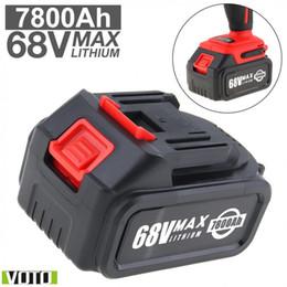 tipos de bateria recarregável Desconto Bateria VOTO Universal 68 V Max 7800 mAh Bateria Li-ion Recarregável com Tipo de Impulso Plano e 2 Slots para Chave Elétrica de Impacto