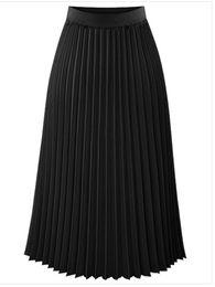 zada saia plissada das mulheres cor sólida cintura alta saia slim midi de Fornecedores de cortar pregos