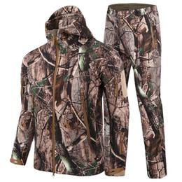 HANWILD Adam Yeni Kış Su Geçirmez Balıkçılık Pantolon Taktik SoftShell Avcılık Açık Ceketler Set Ordu Takım Elbise Pantolon S1 cheap softshell hunting jackets nereden yumuşak av ceketleri tedarikçiler