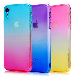Canada Nouveau pour Iphone XS max XR X 6S 7 8 PLUS Gradient Couleur TPU Gel Peau Étui Couverture de Téléphone Accessoirescell cas de téléphone portable couverture mince Offre