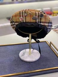 Elegantes barett online-Hochwertige Haute Couture newsboy Hüte Marke Barette Winter Herbst Modedesigner elegante Luxus Kappen für Männer und Frauen