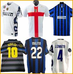 ko Rabatt 2007 08 inter dritte FIGO IBRAHIMOVIC MATERAZZI 97 klassisches Hemd J.Zanetti ADRIANO VIEIRA BALOTELLI Vintage jerse 98 Trikots Retro Fußball 99