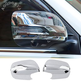 spiegel für toyota Rabatt Car Styling Zubehör ABS Chrom Rückspiegel Moulding Trim-Abdeckung für Toyota Land Cruiser LC200 2012-2019
