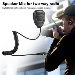 Kenwood walkie talkie accessori online-Freeshipping Portable Universal Radio Speaker a 2 vie con microfono Radio Walkie Talkie per Kenwood Hotel Restaurant Security Tool