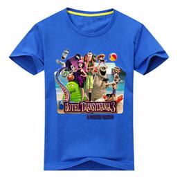 2019 crianças verão queda verão vestuário Transporte da gota Crianças Dos Desenhos Animados Hotel Transylvania 3 Roupas Meninos Verão T-shirt Das Meninas T Shirt Roupas Crianças Roupas Tshirt Dx083 J190427 desconto crianças verão queda verão vestuário