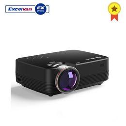 Excelvan mini projecteur led en Ligne-Excelvan Q6 Mini Led Projecteur 1800lumen Écran Tactile Portable Multimédia Vidéo Projecyor 1080p Hdmi Vga Usb Home Cinéma Us Plug T190620