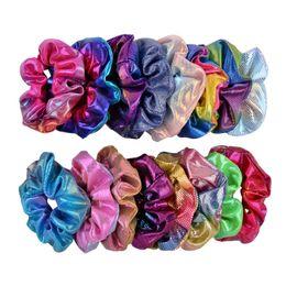 Amarrar fitas on-line-Bandas mulheres Laser Hairbands Dot brilhante Gradiente de cor Cabelo Elastic Headband rabo de cavalo titular corda do tie Scrunchies cabelo das meninas Headwear A101501