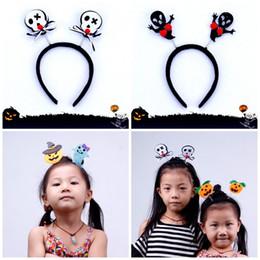 2019 diadema de araña Cute Pumpkin Spider Headband Glow Santa Claus Hair Hoop Toy Niños Adultos Accesorios para el cabello de Navidad Decoración de Halloween 1 8jr E1 diadema de araña baratos