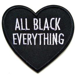 Patchs de coeur noir lettres anglaises coudre le fer sur Applique réparation bricolage Badge Patch pour enfants vêtements veste sac vêtement ? partir de fabricateur