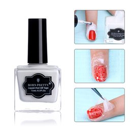 lattice del chiodo Sconti NATI GRAZIOSAMENTE 15ml Anti-congelamento Peel Off Liquid Tape White Nail Latex Cuticle Guard Manicure Nail Art Care