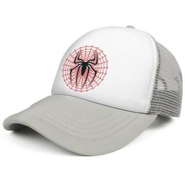 2019 chapeau ajusté en soie Spiderman Web Vector Spider soie gris hommes et femmes camionneur casquette de baseball cool chapeaux équipe équipée chapeau ajusté en soie pas cher