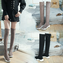 0c87e3418161 long lace thigh boots 2019 - Girl s Leisure thigh high botines over knee  long sock footwear