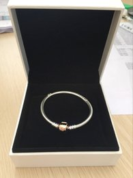 gold hand chain for women Coupons - 18K Rose Gold Clips Hand Chain BRACELET Original Box for Pandora 925 Sterling Silver Charms Bracelets for Women Mens