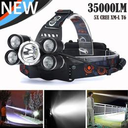 Argentina 35000 LM 5X XM-L T6 LED faro recargable faro cabeza de viaje antorcha e176 Suministro
