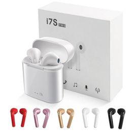 auriculares para pc Rebajas I7S TWS Auriculares inalámbricos Bluetooth Auriculares Auriculares con caja de carga Gemelos Mini Auriculares Bluetooth para iPhone Android PC
