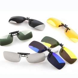 clip sonnenbrille nacht fahren Rabatt Unisex Polarized Clip On Sunglasses Driving Nachtsichtlinse Anti-UVA Anti-UVB Radfahren Reiten Sonnenbrillen Clip Für Kurzsichtige