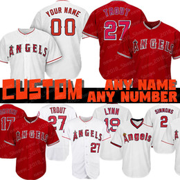 2a14039bc Custom 27 Mike Trout Angels of Anaheim jersey 17 Shohei Ohtani Los Angeles  2 Andrelton Simmons 5 Albert Pujols 56 Kole Calhoun 19 Fred Lynn