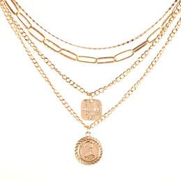 Europäische schicht halskette online-Beliebte europäischen und amerikanischen Stil, Mode Metall Retro-Quaste Multi-Layer-Münzen täglich wild übertriebene Avatar Halskette