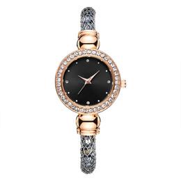 Silberne kleidermodelle online-2019 neue modell mode luxus frauen diamant uhren rose gold silber schwarz special designer dame kleid armband uhr quarz armbanduhren