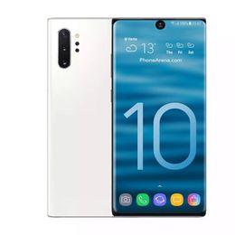 gps android trasero Rebajas Goophone Note10 + 6.8Inch Pantalla Display Teléfono inteligente 1G Ram 16G / 8G / 4G Rom Teléfono móvil 800W Posterior 500W Cámara frontal Huella digital del teléfono
