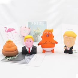 lenço de creme para crianças Desconto Paródia Toy múltipla Styling criativa Pu recuperação lenta mole Sr. Trump Avatar US Presidente paródia Toy EEA547