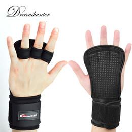 guantes de apoyo para los dedos Rebajas Levante los guantes de medio dedo Mancuernas Crossfit Protectores de palma Silincone Gimnasio Levantamiento de pesas Muñeca Soporte de mano Agarres Deportes