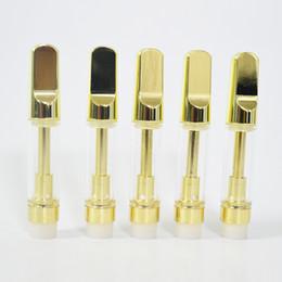 Canada Golden Tip Vape Pen Chariots pour atomiseurs 1.0 ml Réservoir de verre vide 2.0 mm d'épaisseur Huile E Vaporisateurs de cigarettes Emballage supplier golden e cigarette Offre