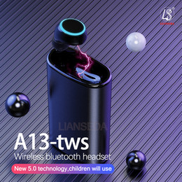 2019 perlenkette kopfhörer A13 TWS Bluetooth Sport-Kopfhörer-Fingerabdruck-Touch HD Stereo wireles Bluetooth 5.0 Mini-Kopfhörer Noise Cancelling Kopfhörer Gaming Headset