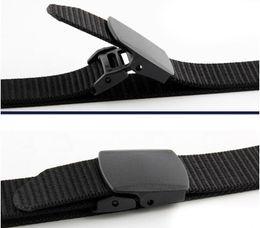 2019 cinturon de hombre de plastico Cinturón de Nylon para hombres tácticos Paquete de 2 Correas Lienzo Cinturón de tela para exteriores con hebilla de plástico cinturon de hombre de plastico baratos
