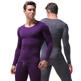 2019 calzoncillos térmicos Ropa interior para hombres Cuello redondo fino Calzoncillos largos y calzoncillos largos de Johns tamaño asiático L a 6XL rebajas calzoncillos térmicos