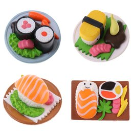 Giapponese in miniatura online-1:12 Dollhouse Vivid Japanese Food Sushi Models Miniature Dining Table Decor