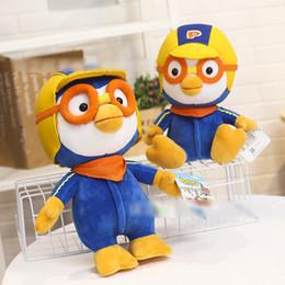 Peluche roba animale online-Corea Pororo Plush Doll Pororo animali farciti Giocattoli Kawaii Penguin Doll giocattoli Migliori regali per i bambini Giocattoli
