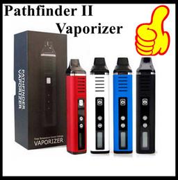 Набор темпов онлайн-Аутентичные Pathfinder II 2 Herbal Vaporizer Kit 2200 мАч Аккумулятор Temp Control TC Mode ЖК-экран воск сухой распылитель травы Vape Pen сигареты