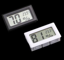 Mini Digital LCD Termómetros integrados Higrómetros Temperatura Humedad Medidor Termómetro interior Negro Blanco desde fabricantes