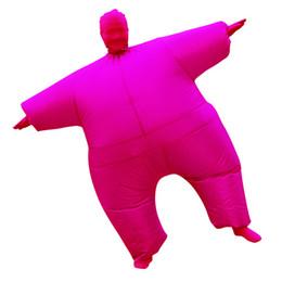 Maskottchen für festivals online-Solid Color Designer Masked Fat Sumo Aufgeblasen Kleidung Mode Festival Art Maskottchen-Kostüm Lässige Kleidung Bühne