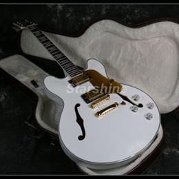 2020 colore bianco del corpo 2019 Nuovo Top Quality Custom Shop Semi Hollow Body E-335 Chitarra elettrica 22 tasti colore bianco colore bianco del corpo economici