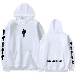 hoodies da impressão da cara Desconto XXS-4XL Billie Eilish Hoodie Famoso Cantor Dupla Face Impresso Manga Longa Dentro de Lã Casuais Pullover Hoodies Camisola Jaqueta Top