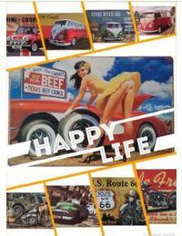 Matrículas vintage on-line-Placa de Licença de Metal Do Carro Da Motocicleta do ônibus Casa Decoração Do Vintage Sinal Da Lata Bar Pub Garagem Decorativa Sinal de Metal Pintura De Metal Placa ST077