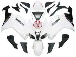 красный белый zx6r обтекатель Скидка OEM качество нового ABS Injection Mold обтекатели комплекты 100%, пригодные для Kawasaki NinjaZX-6R ZX6R 636 2007 2008Bodywork набора глянцевой Pure White Красных Черный