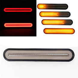 24v neon lights Coupons - 1Pair Neon LED Lights RV Trailer Truck Stop Flowing Turn Signal Brake Rear Tail Light IP67 Waterproof 12-24V