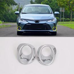 frente da corola Desconto Fit For Corolla E210 Sedan 2019 2020 Car Styling Tampa guarnição luz de nevoeiro ABS frontal / traseira Luz Decor 2pcs Auto Acessórios