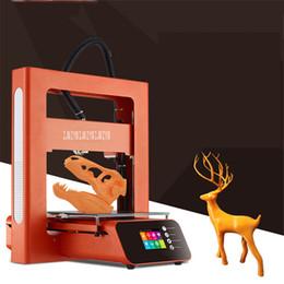 Serigrafia metallo online-Stampante A3S 3D Full Metal frame ad alta precisione la stampa di grande formato 20 * 20 * Schermo LCD Touch Printing macchina 22 centimetri USB