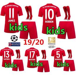 19 20 Bayern Munich JAMES Maglia da calcio per bambini 2019 2020 LEWANDOWSKI MULLER maglia HUMMELS Maglia da calcio Per bambini uniformi da