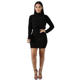 f19070227b1 Autumn Spring Women New Office Lady 2 Piece Set Slim Suit Dress High Collar  Long Sleeves Blouse+ shoulder-straps dress two pieces Dress NB-