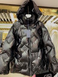 parka de inverno verde feminino Desconto 19high mulheres acabam meninas acolchoado jaqueta parka bombardeiro curto multicolor inverno letra xadrez outerwear manga longa casaco de design de moda de luxo para