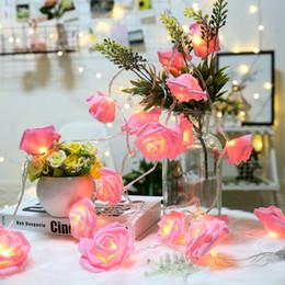 2019 decorazioni di proposta 3m 6m LED Rose Flower Fairy String Lights Lamps Valentines Day Xmas Love Gift Home Bar Decorazione del partito di nozze Decorazione sconti decorazioni di proposta