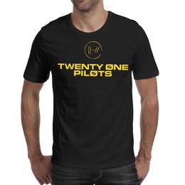 sottogonne gialle Sconti Manica gialla da uomo Twenty One Pilot Trench Signt O-Collo Manica corta T-shirt personalizzate in cotone