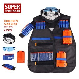 hunting clothes wholesalers Coupons - Boys Men Hunting Equipment Tactical Vest Kids Army Gear Children Sniper Clothes Suits Outdoor Clothing Set 6pcs