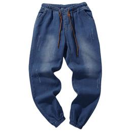 Pantalon de travail vintage en Ligne-Hommes Loose Jeans Pants haute qualité Casual Hommes Automne Automne Denim Grande taille Vintage Lavage Hip Hop Travail Pantalon Jeans Pantalon
