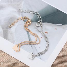 2019 porcellana bracciali anelli Braccialetto a forma di cuore squisito del braccialetto d'oro per le donne Annata dei gioielli della catena